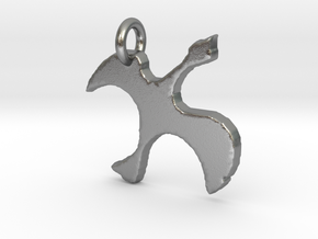 Cathar Dove Pendant in Natural Silver