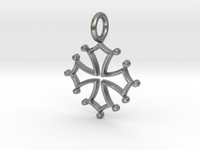 Occitan Cross Pendant in Natural Silver