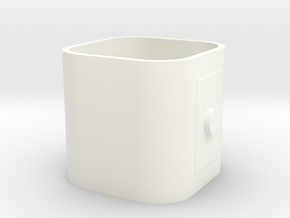 Part 2 of 4 - Folding Wall Dock - Plug Holder in White Processed Versatile Plastic