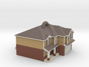 House with a loop on the roof! in Natural Full Color Sandstone