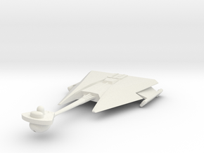 2500 Klingon D-10 class in White Natural Versatile Plastic