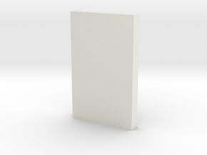 "Beskar Steel Bar 4""  in White Natural Versatile Plastic"
