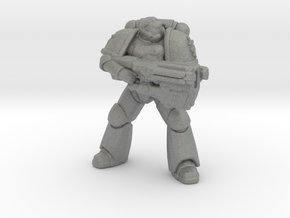Doomguy Doom Slayer Primarius Marine miniature bfg in Gray PA12
