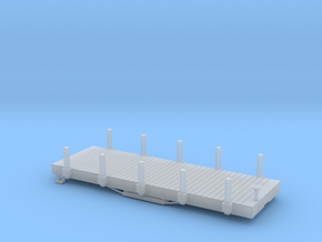 N USMRR FLATCAR 5 WITH STAKES in Smooth Fine Detail Plastic