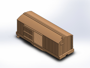 N USMRR BOXCAR in Smooth Fine Detail Plastic