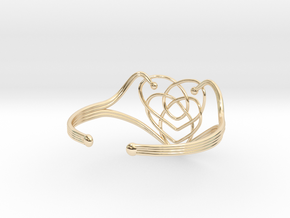 Celtic Motherhood Knot Braclet in 14K Yellow Gold