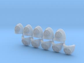 Novus Krakens Mk7/8 shoulder pads x10 in Smoothest Fine Detail Plastic
