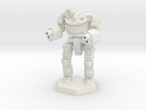Mk7-L4M Heavy Mech in White Natural Versatile Plastic: Medium