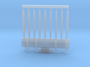 U-3 End Boards and Stanchions in Smoothest Fine Detail Plastic