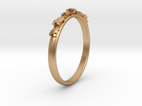 Jigsaw ring in Natural Bronze: 5.5 / 50.25