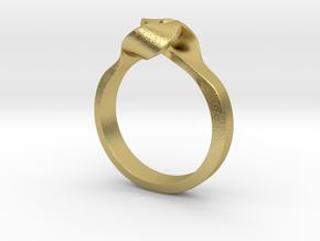 Twist Interlock Ring_A in Natural Brass: 5 / 49