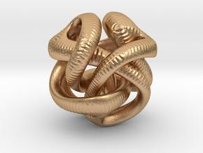 Yayene Sculptural Pendant in Natural Bronze
