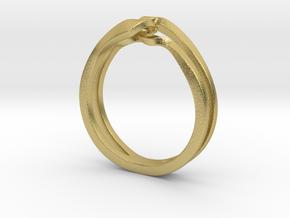Twist Interlock Ring_C in Natural Brass: 5 / 49