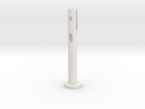 P51 crank handle knob slide pin in White Natural Versatile Plastic