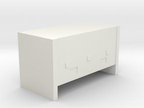 CN Pullman Battery Box (Small) in White Natural Versatile Plastic