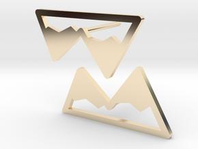 Mountain Earrings in 14k Gold Plated Brass