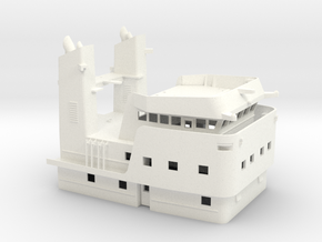 Apache fleet tug, Superstructure (1:100, RC) in White Processed Versatile Plastic