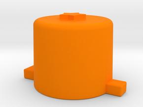 One star button  in Orange Processed Versatile Plastic