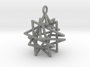 Tetrahedron Compound Pendant in Gray PA12