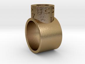Snoke ring  in Polished Gold Steel: 11 / 64