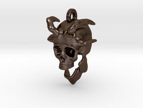 Ibis Skull Keychain/Pendant in Polished Bronze Steel