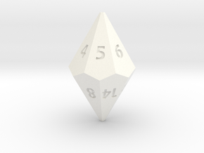 D14 dice in White Processed Versatile Plastic