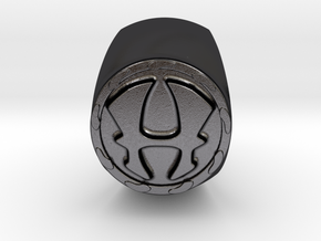 Hercules RING Size 12 in Polished and Bronzed Black Steel