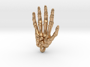 Skeletal Hand Keychain/Pendant in Natural Bronze