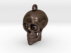 Victor Skull Keychain/Pendant in Polished Bronze Steel