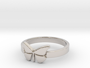Butterfly (small) Ring Size 7 in Platinum