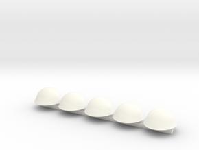 5 x Mk III Turtle  in White Processed Versatile Plastic