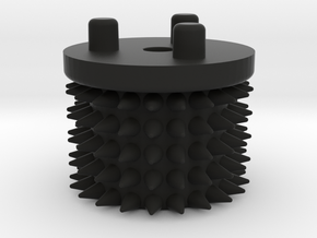 Emek/Etha 2 Bolt Cap - STUDDED in Black Natural Versatile Plastic