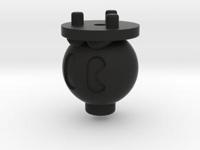 Emek/Etha 2 Bolt Cap - Bobomb in Black Natural Versatile Plastic