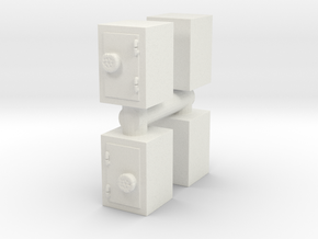 Safe (x4) 1/76 in White Natural Versatile Plastic