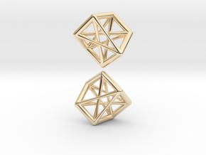 Twisted Sevenstar Pendant Pair in 14K Yellow Gold