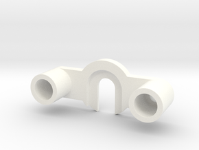 B-695-4 Plastic Yoke Top - Classic Stern in White Processed Versatile Plastic