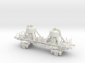 wagon sablier echelle TT in White Natural Versatile Plastic