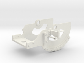 1/5 DKM 3.7cm Flak M42 Single Mount (Cradle) in White Natural Versatile Plastic