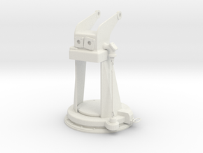 1/5 DKM 3.7cm Flak M42 Single Mount (Pedestal) in White Natural Versatile Plastic