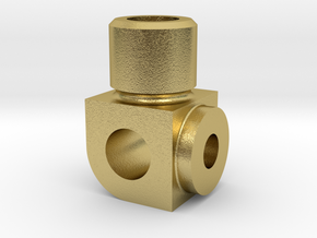 Superheater Fitting in Natural Brass