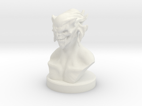 Demon Bust - 60mm in White Natural Versatile Plastic