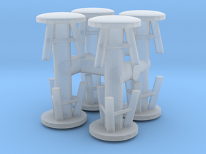 Stool (x8) 1/72 in Smooth Fine Detail Plastic