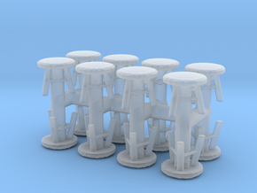 Stool (x16) 1/144 in Smooth Fine Detail Plastic