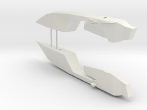 1/1000 Serpens Destroyer (Kit Part #3) Nacelles in White Natural Versatile Plastic