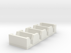 Wooden Railway Scale - Open-Topped Narrow Gauge Co in White Natural Versatile Plastic