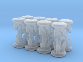 Stool (x16) 1/285 in Smooth Fine Detail Plastic