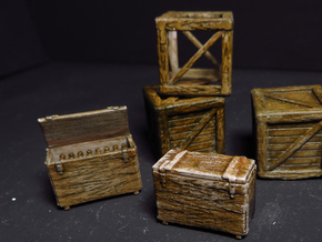 MILITARY 1/35 CRATES GERMAN WOODEN in Smooth Fine Detail Plastic