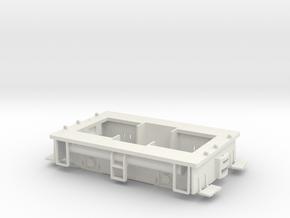 Fn3 23 Ton GE Box Cab Frame in White Natural Versatile Plastic