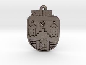 Simson Schlüsselanhänger in Polished Bronzed-Silver Steel