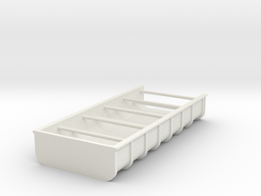 low dump _H37_B49,8_H17,6 with bracing in White Natural Versatile Plastic